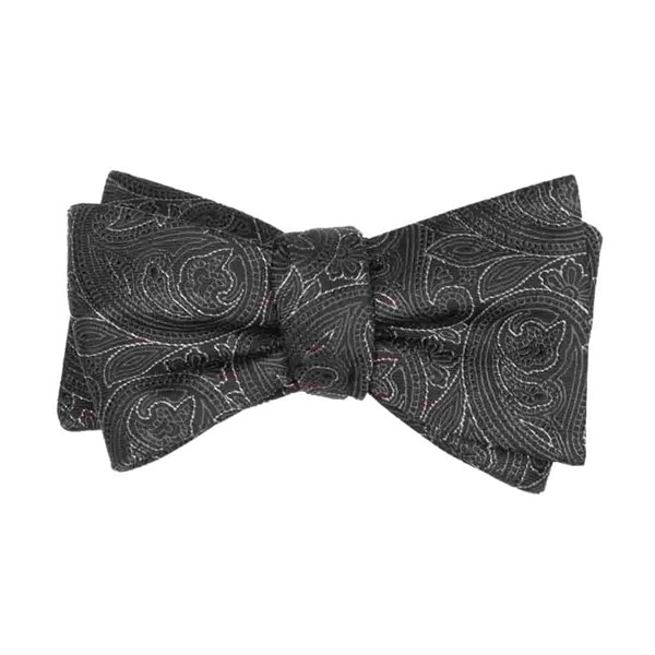 Black Paisley Fortune Bow Tie