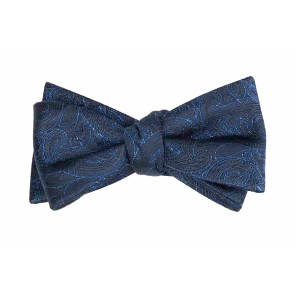 Navy Paisley Fortune Bow Tie
