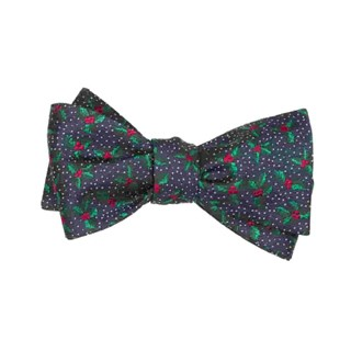 under the mistletoe navy bow ties