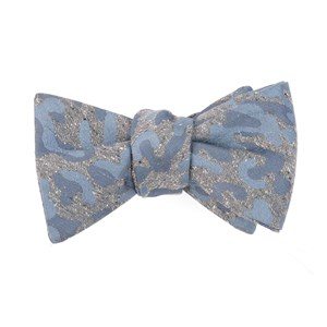 speckled camo grey bow ties