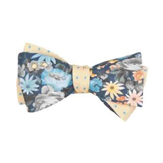 duke dots navy bow ties