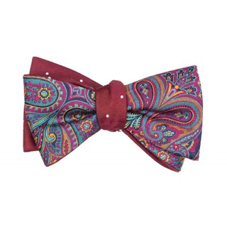 Empire Report Burgundy Bow Tie
