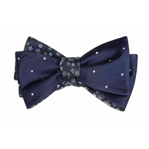 milligan dots navy bow ties