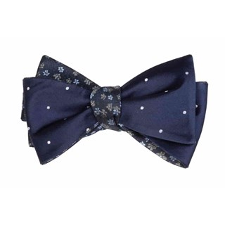 Milligan Dots Navy Bow Tie