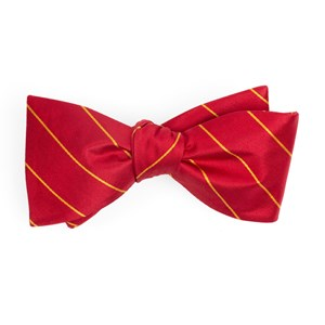 pencil glimmer pinstripe red bow ties