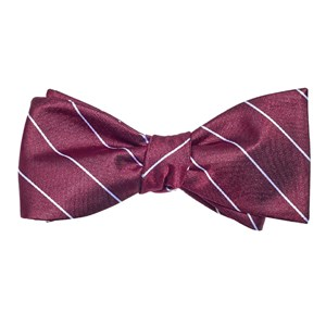 pencil glimmer pinstripe burgundy bow ties