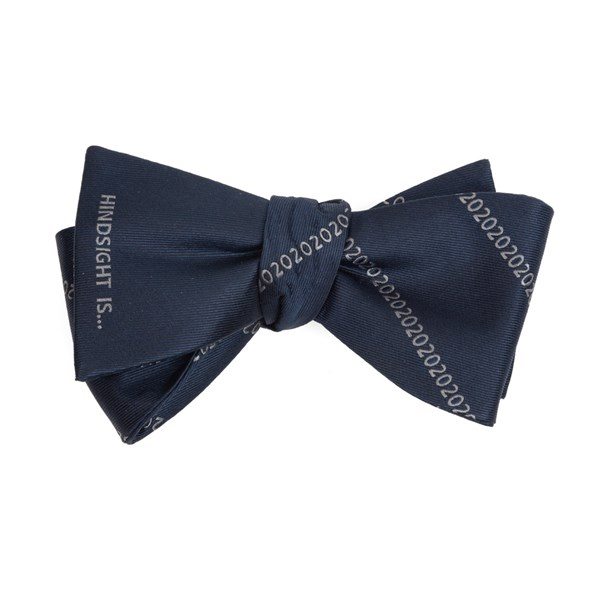Navy Hindsight Is 2020 Bow Tie