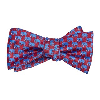 Republican Elephant Red Bow Tie