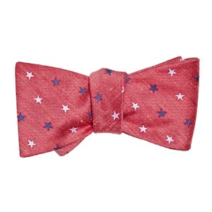 star spangled red bow ties