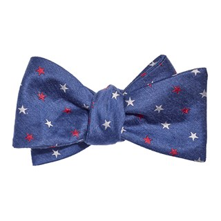 Star Spangled Navy Bow Tie