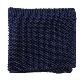 Blue Solid Knit pocket square