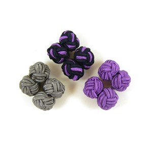 3-pack Silk Knots Lilac Cufflinks