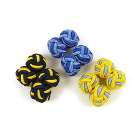 3-pack Silk Knots Yellow Cufflinks