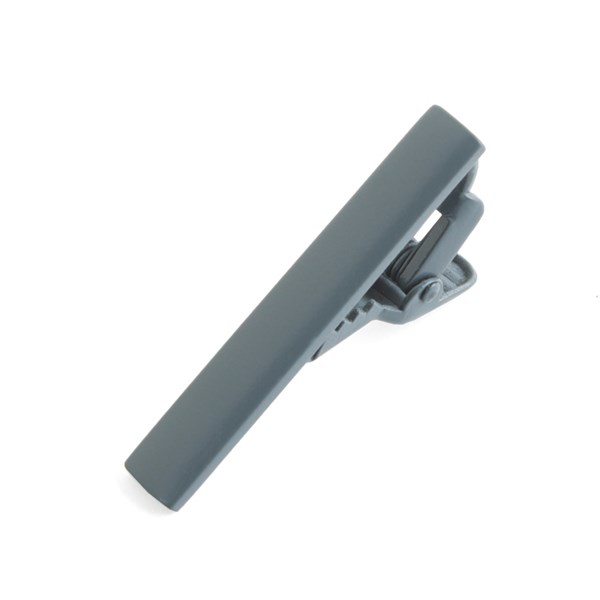 Matte Color Silver Tie Bar