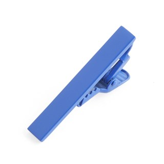 Matte Color Cobalt Blue Tie Bar