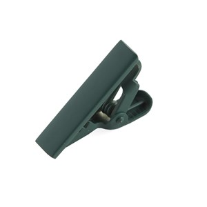 matte color forest green tie bar