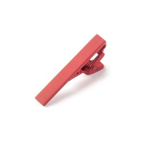 matte color classic red tie bar