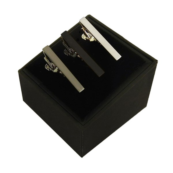 Black 3 Pack Set Tie Bar