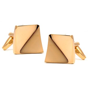 golden slant gold cufflinks
