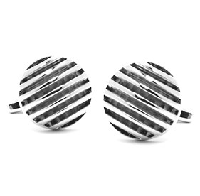 Silver Polished Rings Cufflinks
