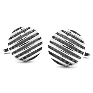 polished rings silver cufflinks