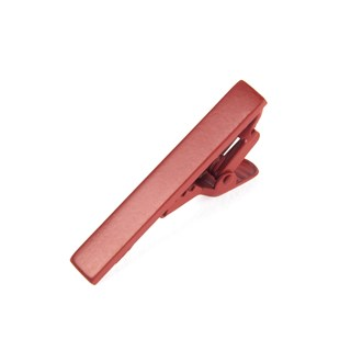 matte color crimson tie bar