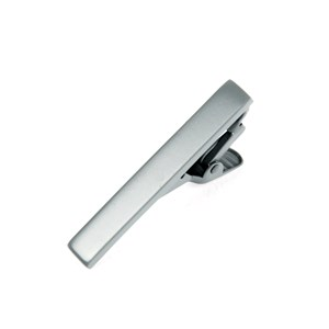matte color platinum tie bar