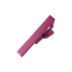 matte color raspberry tie bar