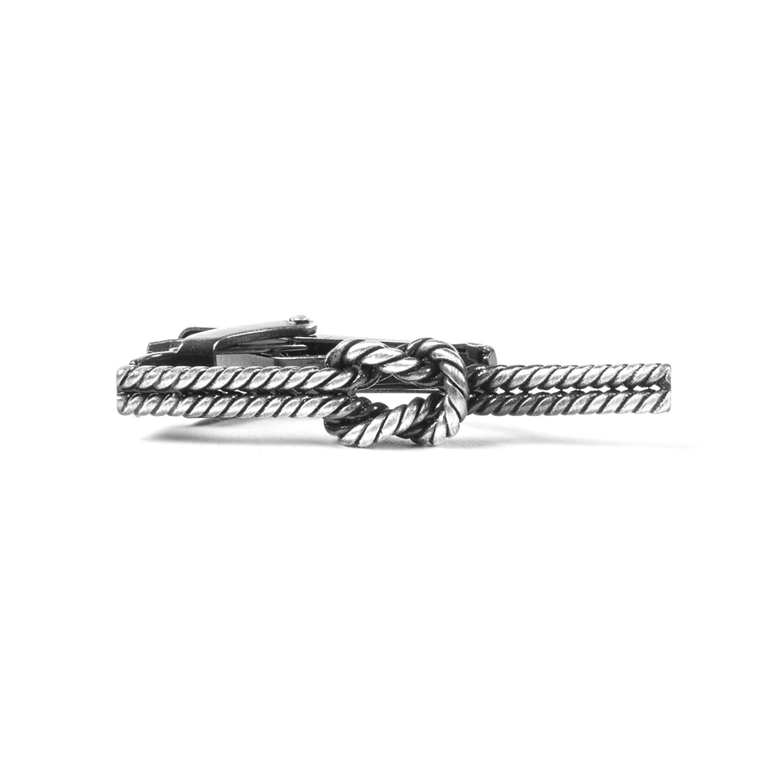 """Sailors Knot - Silver - 1.5"""" - Tie Bars"""