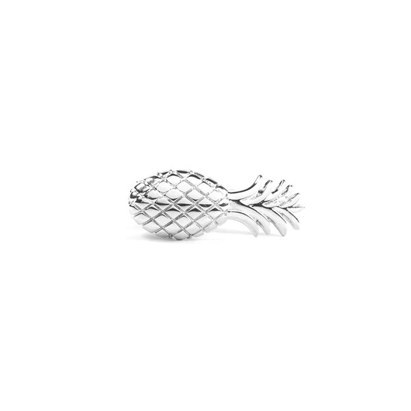 Silver Pineapple Tie Bar