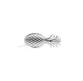 Pineapple Silver tie bar