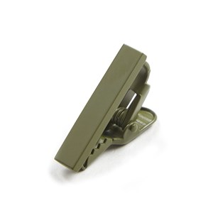 matte color olive green tie bar