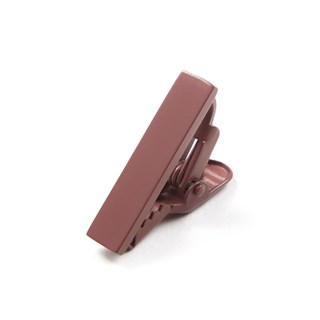 Matte Color Marsala Tie Bar