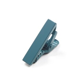 Matte Color Deep Teal tie bar