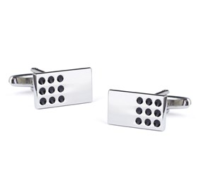 Silver Domino Games Cufflinks