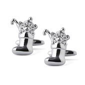Cufflinks - Stocked Stocking - Silver