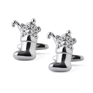 stocked stocking silver cufflinks
