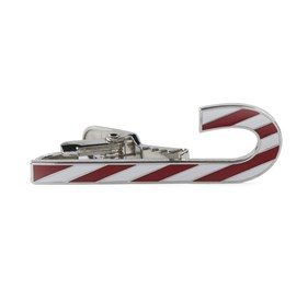 Silver CANDY CANE tie bar