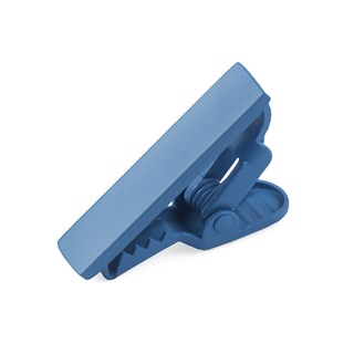 matte color cornflower blue tie bar