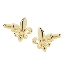 Gold Flower De Luce Cufflinks
