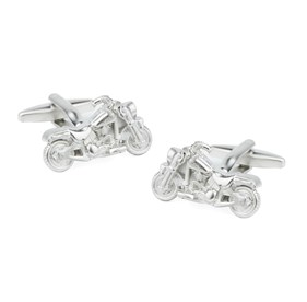 Silver Motorcycles Cufflinks