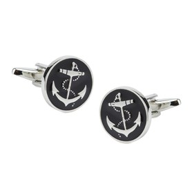 Black Trad Anchor Cufflinks