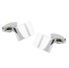 Silver Bricked Cufflinks