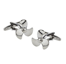 Gun Metal Motorboat Cufflinks