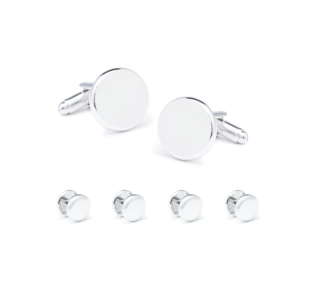 Tuxedo Studs And Cufflinks - Silver -  - Accessories