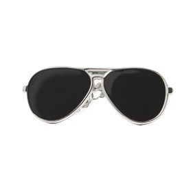 Silver Sunglasses tie bar