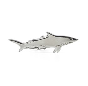 Silver Shark tie bar