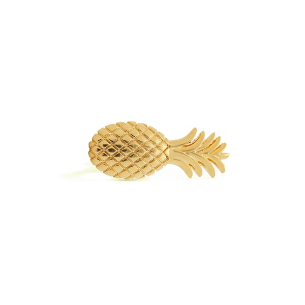 Gold Pineapple Tie Bar