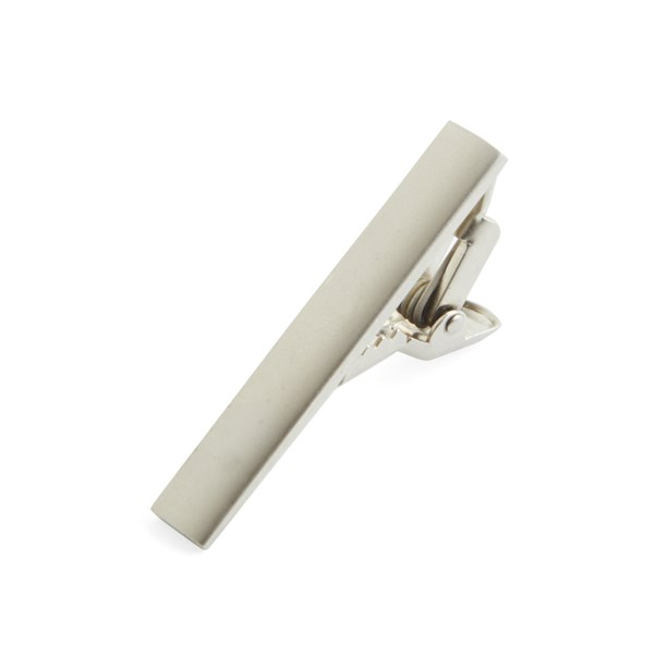 Platinum Silver Shot Tie Bar
