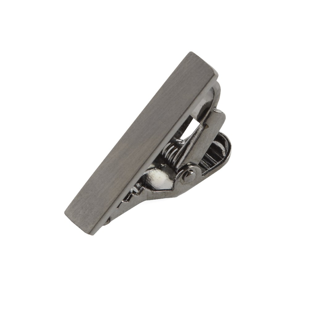 "Brushed Straight - Gun Metal - 1"" - Tie Bars"